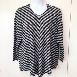 Avenue Womens Knit Top Size 22 24 Hooded Pullover